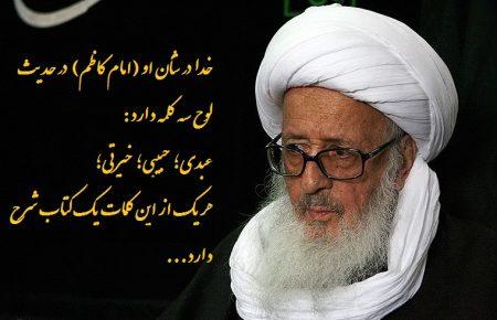 مقام عبودیت امام کاظم علیه السلام